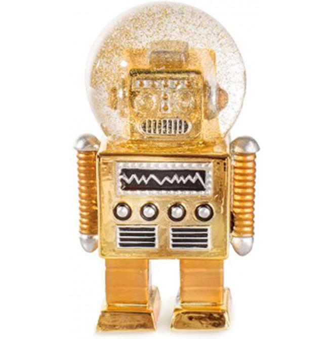 ROBOT SFERA GLITTER ORO