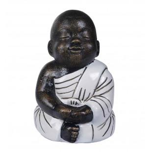 BUDDHA SEDUTO ABITO BIANCO