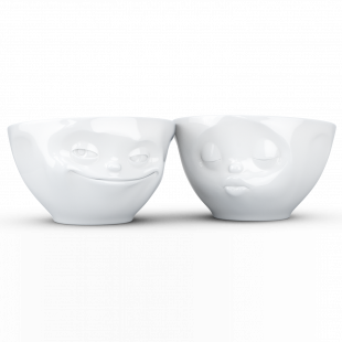 """COPPIA DUE BOWL 200ml """"KISSING E GRINNING"""""""