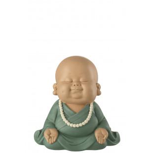 BUDDHA ZEN CHE MEDITA ABITO VERDE