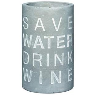 """SECCHIELLO REFRIGERANTE PER VINO """"SAVE THE WATER"""""""