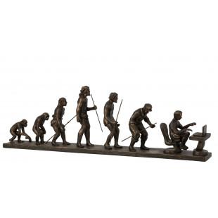 EVOLUZIONE UMANA IN RESINA BRONZ
